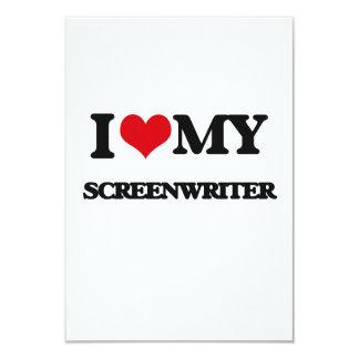 "I love my Screenwriter 3.5"" X 5"" Invitation Card"