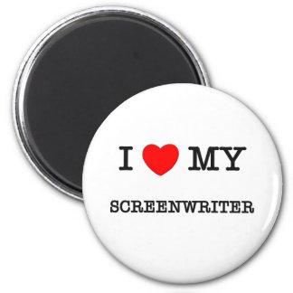 I Love My SCREENWRITER Fridge Magnet