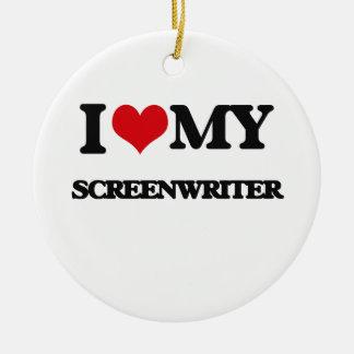 I love my Screenwriter Christmas Ornament