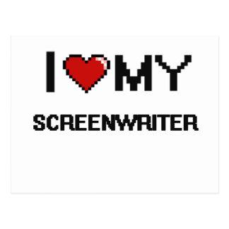 I love my Screenwriter Postcard