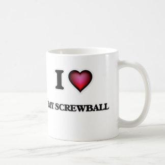 I Love My Screwball Coffee Mug