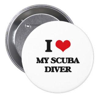 I Love My Scuba Diver Pinback Button