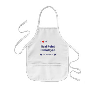 I Love My Seal Point Himalayan (Female Cat) Kids' Apron