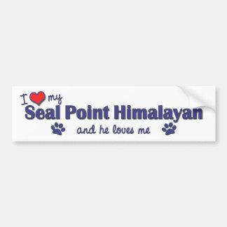 I Love My Seal Point Himalayan (Male Cat) Car Bumper Sticker