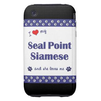 I Love My Seal Point Siamese (Female Cat) iPhone 3 Tough Case