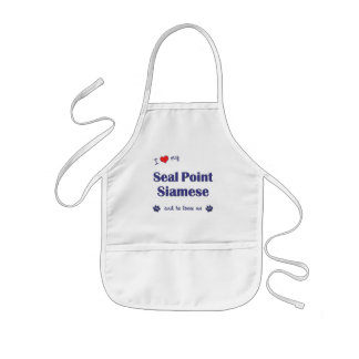 I Love My Seal Point Siamese (Male Cat) Kids' Apron
