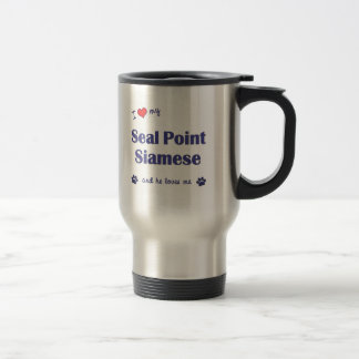 I Love My Seal Point Siamese (Male Cat) 15 Oz Stainless Steel Travel Mug