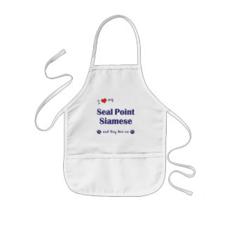I Love My Seal Point Siamese (Multiple Cats) Kids' Apron