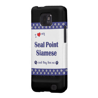 I Love My Seal Point Siamese (Multiple Cats) Samsung Galaxy SII Case