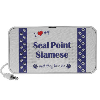 I Love My Seal Point Siamese (Multiple Cats) PC Speakers