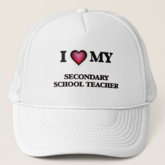 I love my Secondary School Teacher Trucker Hat