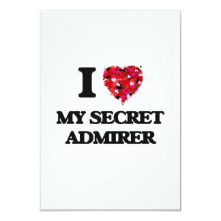 I love My Secret Admirer 3.5x5 Paper Invitation Card