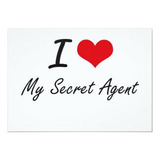 I Love My Secret Agent 5x7 Paper Invitation Card