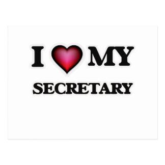 I love my Secretary Postcard
