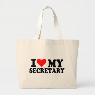 I love my secretary tote bags