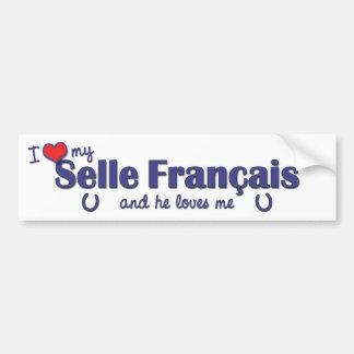 I Love My Selle Francais (Male Horse) Bumper Sticker