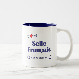 I Love My Selle Francais (Male Horse) Two-Tone Coffee Mug