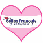 I Love My Selles Francais (Multiple Horses) Cut Outs