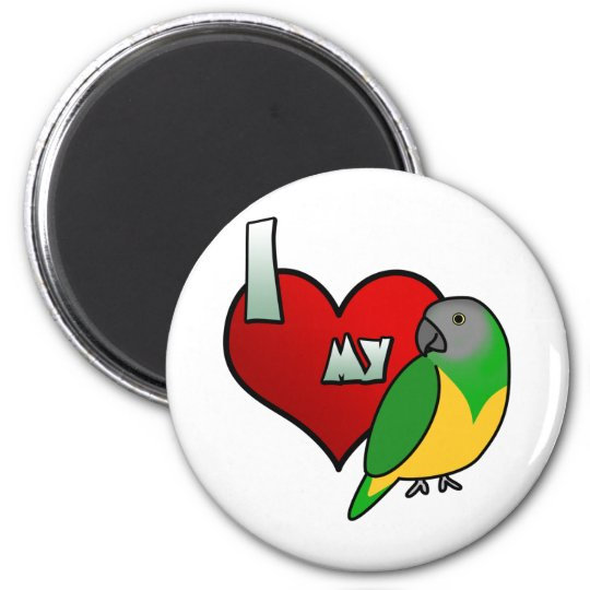 I Love my Senegal Parrot Magnet