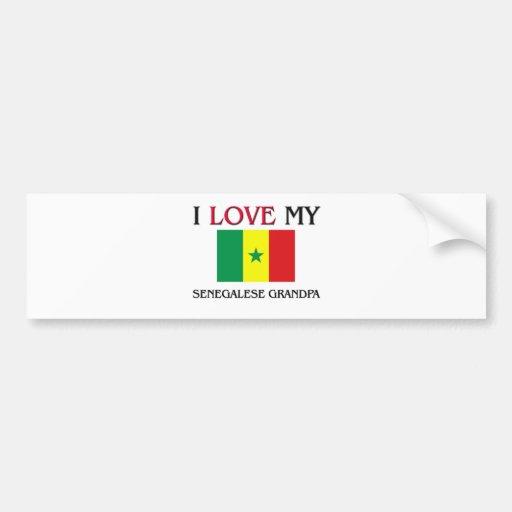 I Love My Senegalese Grandpa Bumper Stickers