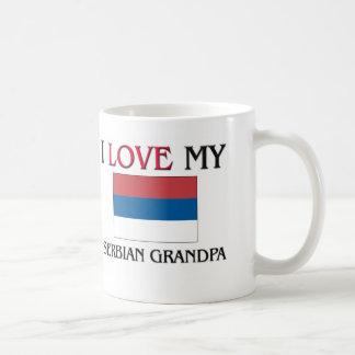 I Love My Serbian Grandpa Classic White Coffee Mug