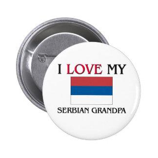 I Love My Serbian Grandpa Pinback Buttons