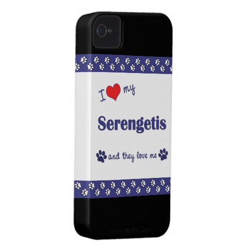 I Love My Serengetis (Multiple Cats) Case-Mate iPhone 4 Case