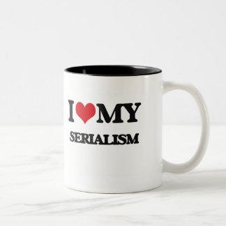 I Love My SERIALISM Two-Tone Coffee Mug