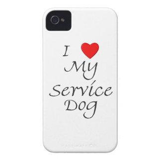 I Love My Service Dog Blackberry Cases