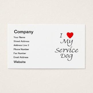 I Love My Service Dog Business Card