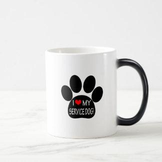 I Love My Service Dog Magic Mug