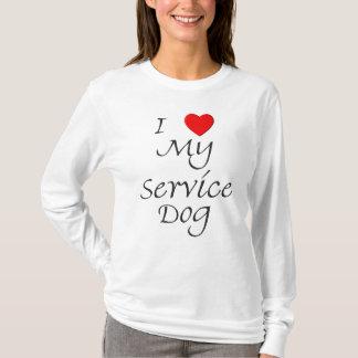 I Love My Service Dog T-Shirt