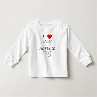 I Love My Service Dog Toddler T-shirt