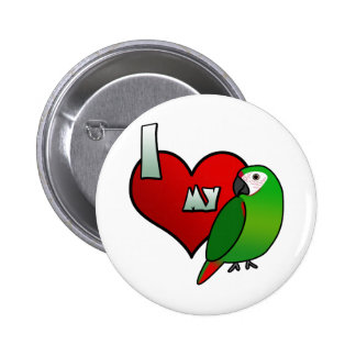 I Love my Severe Macaw Button