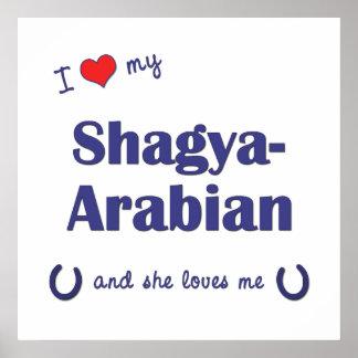 I Love My Shagya-Arabian (Female Horse) Poster