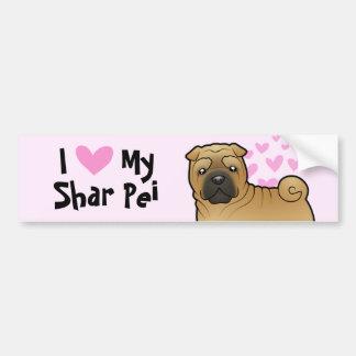 I Love My Shar Pei Bumper Sticker