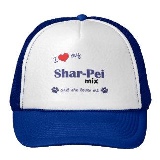 I Love My Shar-Pei Mix (Female Dog) Trucker Hats