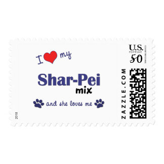 I Love My Shar-Pei Mix (Female Dog) Postage