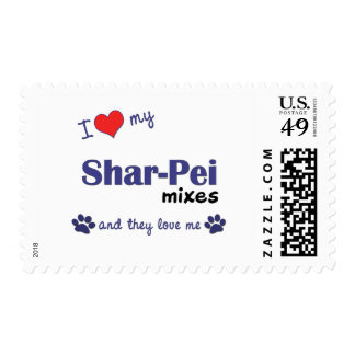I Love My Shar-Pei Mixes (Multiple Dogs) Postage