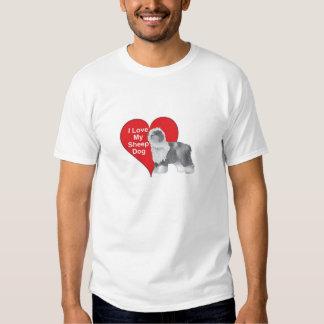 I Love My Sheep Dog T Shirt