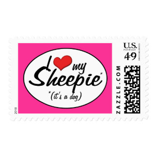 I Love My Sheepie (It's a Dog) Postage Stamps