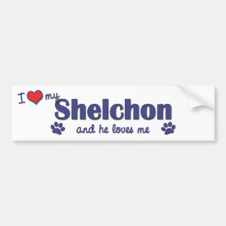 I Love My Shelchon (Male Dog) Bumper Sticker