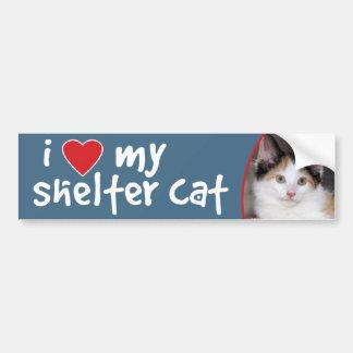 I Love My Shelter Calico Cat Bumper Sticker/Decal Bumper Sticker