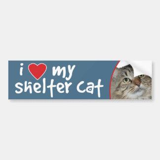 I Love My Shelter Cat Bumper Sticker/Decal - Tabby Bumper Sticker