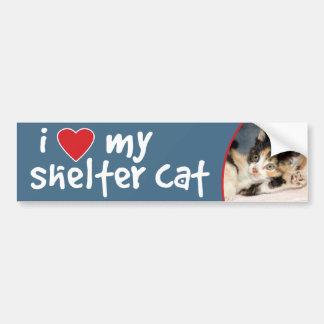 I Love My Shelter Cat Calico Bumper Sticker/Decal Bumper Sticker