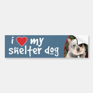 I Love My Shelter Dog Australian Cattle Dog Car Bumper Sticker