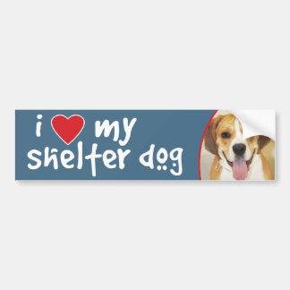 I Love My Shelter Dog Beagle-Bulldog Mix Bumper Sticker