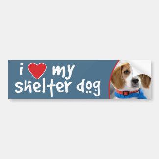 I Love My Shelter Dog Beagle Puppy Bumper Sticker