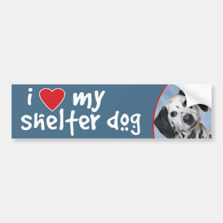 I Love My Shelter Dog Dalmatian Bumper Sticker