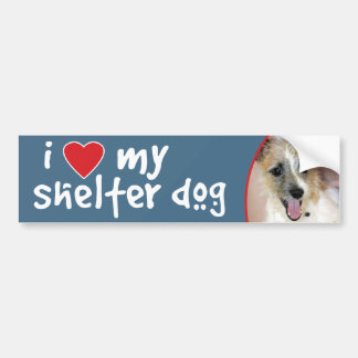I Love My Shelter Dog-Parson Russell Mix Bumper Sticker